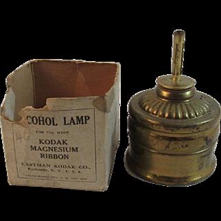 Kodak Alcohol Lamp for Lighting Magnesium Flash