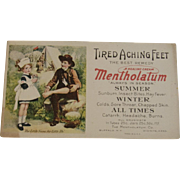 Mentholatum Little Nurse & Soldier Ink Blotter