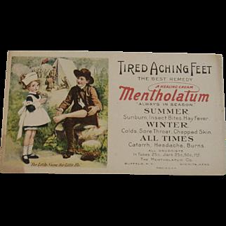 Mentholatum Little Nurse & Soldier Ink Blotter