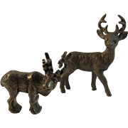 Norway Pewter Reindeer Miniature by Tinn Per and Stag