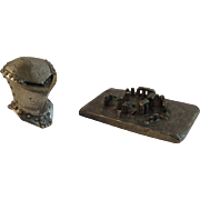 Stonehenge Pewter Miniature by Knightsbridge and Knight Helmet - Red Tag Sale Item