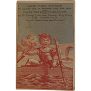 Camden & Atlantic Railroad Excursion Ad Trade Card