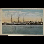 1917 USS Wolverine Postcard