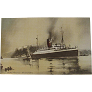 RMS Aurania Ship Postcard Cunard Line