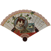 Victorian Fan Cat Ad Trade Card from Tabor's Billiard Parlor