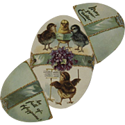 Raphael Tuck & Sons German Mechanical Easter Egg Die Cut Card