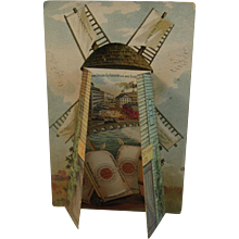 Gold Medal Flour Fold Out Trade Card Washburn-Crosby Windmill