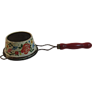 Tin Litho Red Handle Strainer Vintage Retro Kitchen