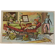 Worlds Fair Marks Adjustable Chair Advertising Trade Card Colombian Exposition