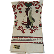 Amish Linen Kitchen Towel Never Used by KayDee Handprints