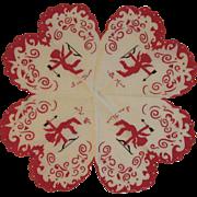 Cupid Valentine Hearts Hanky Handkerchief Hankie