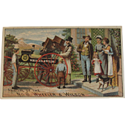 Wheeler & Wilson Sewing Machine Ad Trade Card Chromolithograph