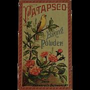Patapsco Baking Powder Trade Card Chromolithograph Baltimore