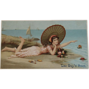 Day's Soap Bathing Beauty Ad Trade Card