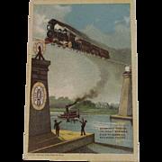 Merrick Thread Train Railroad Ad Trade Card - Red Tag Sale Item