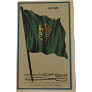 Ideal Felt Tooth Polisher Brush Irish Flag Ad Trade Card