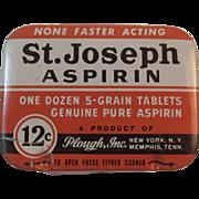 St Joseph Aspirin Tin