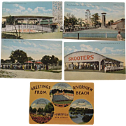 Five 1900s Riverview Beach New Jersey Postcards