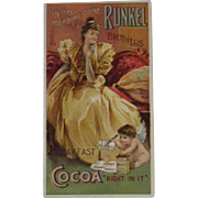 1880s Runkel Brothers Cocoa Advertising Trade Card