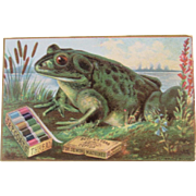J&P Coats Thread Bullfrog Advertising Trade Card Frog