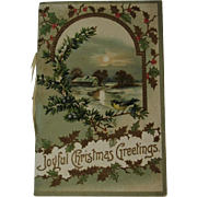 Victorian Christmas Greetings Booklet Chromolithograph