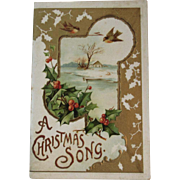 Victorian Christmas Song Booklet by John H. Finley Chromolithograph