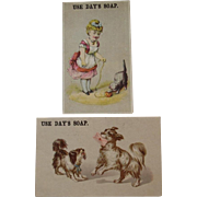Day's Soap Cat & Dogs Victorian Ad Trade Cards