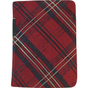 1924 Our Scottish Songs Miniature Tartan Covered Book