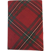 Miniature Tartan Plaid Book for Notes MacGregor Pattern