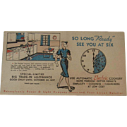 1937 Ready Kilowatt Blotter Advertising PP&L