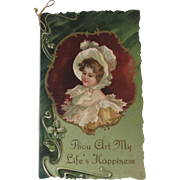 Victorian Diecut Sweetheart Poetry Card