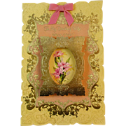 Oversized Mothers Day Card To My Darling Wife in Original Mailing Box American Greetings