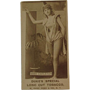 Actress Tobacco Card Miss Carleton