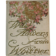 1909 Wild Flowers from Whittier Illustrated Poetry Book