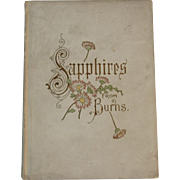c1900 Sapphires From Burns  Victorian Illustrated Poetry Book