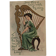 German St. Patrick's Day Postcard Embossed
