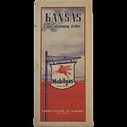 1939 Mobilgas (Socony - Vacuum) Road Map - Kansas