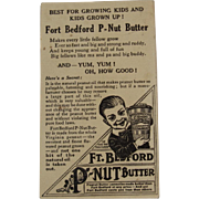 Fort Bedford P-Nut Butter Ad Trade Card with Hidden Objects Western Pennsylvania Peanut Advertising