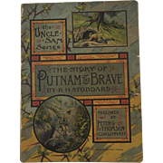 1884 The Story of Putnam the Brave Chromolithograph Illustrations Children's Book