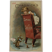 Kitty Cats Playing with Thread - Chadwick's Spool Cotton Victorian Trade Card