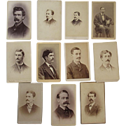 11 CDV Men with Mustaches Photogrpahs Mustaches