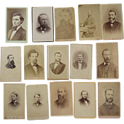 15 CDV Men with Beards Photographs Photos