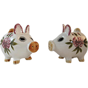 Pig Salt & Pepper Shakers Japan Ceramics in Original Box Vintage Kitchen