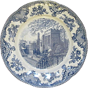 Johnson Brothers Old Britain Castles Round Platter 12 Inch Chop Plate