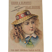 Gordon & Dilworth Salad Dressing Trade Card