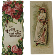 2 Bookmark Victorian Trade Cards Mennen & Colgate