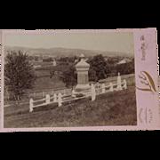 Victorian Graveyard Cabinet Card Photograph Photo