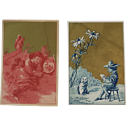 Victorian Comedy Company Play Breach of Promise Advertising Trade Cards Squirrel and Dog