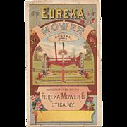 Eureka Lawn Mower Victorian Advertising Trade Card Pamphlet