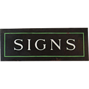 Copper with Enamel Sign of Signs Made in America